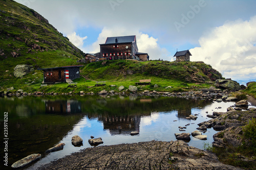 Photo Wildseeloder Haus, mountain refuge hut with cozy accommodation  and Wildsee Lake
