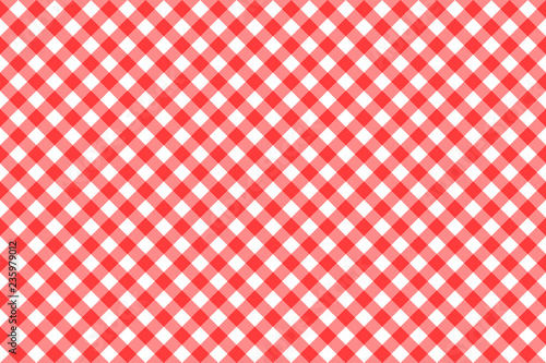 Fotografie, Obraz  Gingham red checkered seamless pattern