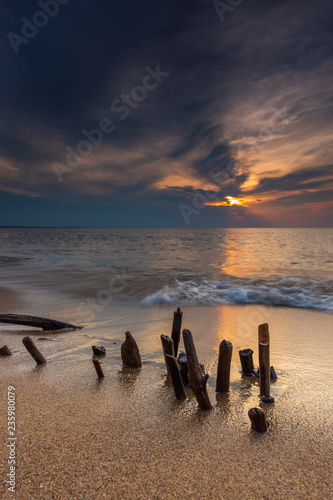 Fotografía  Scenic view of Baltic Sea, Sobieszewska Island, Gdansk, Poland