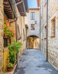 Fototapeta na wymiar Bettona, picturesque village in the Province of Perugia. Umbria, central Italy.