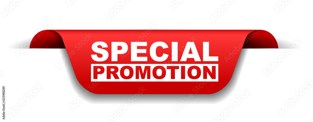 Fototapety, obrazy: red vector banner special promotion