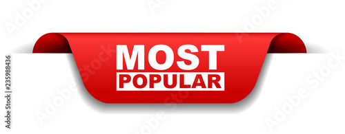 red vector banner most popular - 235988436