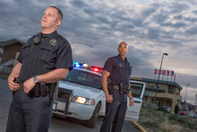 EMERGENCY SERVICES - Gang Unit Police Partners Patrol The Streets
