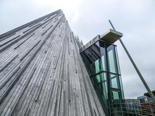 KARSJOK, NORWAY, 8 APRIL 2016: The Wooden Sami Parliament Of Lapland