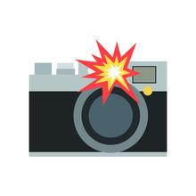 Camera With Flash Emoji