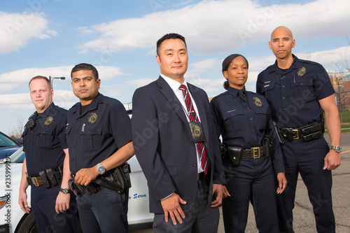Tela Diverse Police Officers