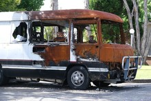 Burnt Out School Bus