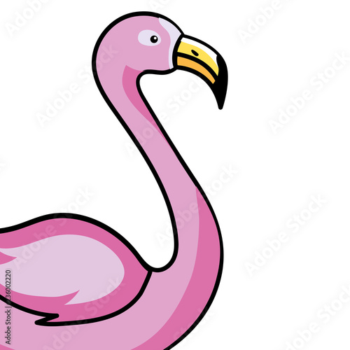 Garden Poster Flamingo pink flamingo cartoon