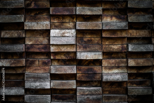 Close up of stacks of wood - 236006074