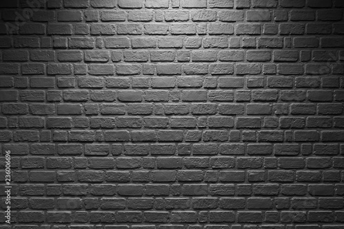 Foto op Plexiglas Abstract background light on brick wall black and white