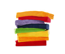 Stack Of Colorful Paper Napkin...