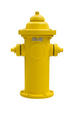 Yellow Fire Hydrant On A White Background. Isolated Object