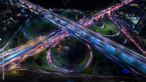 Aerial view of busy streets - 236018605
