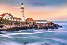 Portland Head Light At Dusk. T...