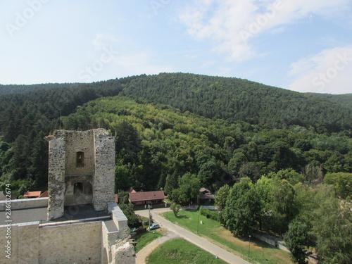 Foto op Aluminium Khaki Landscape with medieval Diosgyor castle, Miskolc, Hungary
