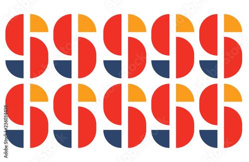 Fotografering  Bauhaus type pattern decor