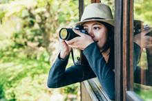 Girl Lens Man Taking Photo Of Nihon Teien