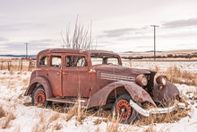Classic Dilapidated Old Vehicle
