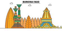 Burkina Faso Line Skyline Vect...