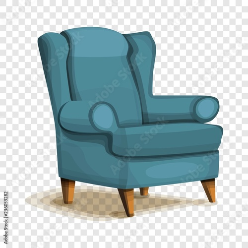 Armchair icon. Cartoon of armchair vector icon for web design Canvas Print