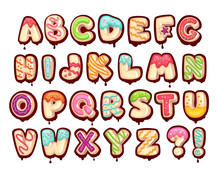 Sweet Alphabet. Cartoon Kids L...
