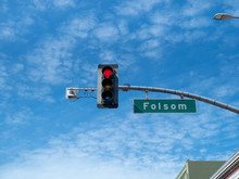Red Light District Traffic Light On Folsom St In San Francisco At Folsom Street Fair