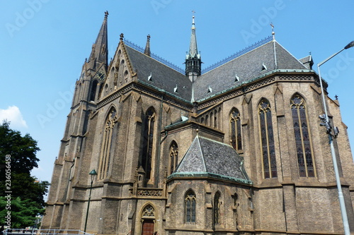 Photographie St. Ludmilla church in Prague, Czech Republic