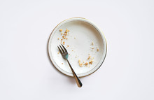 Empty Plate With Crumbs After ...