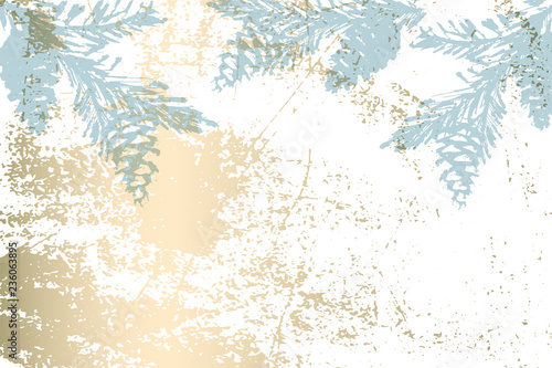 Christmas tree cone painting vector winter textures