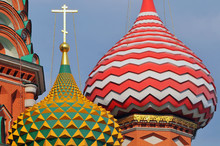 Russia, Moscow, Domes Of The S...