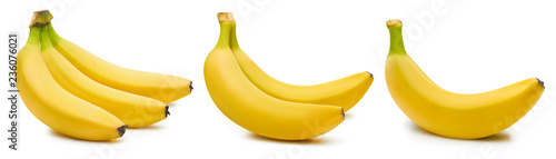 Bunch of bananas isolated Canvas-taulu