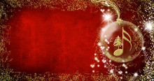 Christmas Musical Card. Semiqu...
