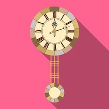 Vector Illustration Of Clock A...