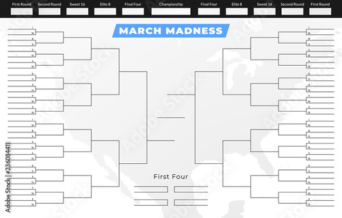 Fotografía  March madness tournament bracket