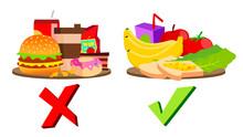 Healthy And Unhealthy Food Con...
