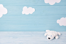 Baby Background With White Ted...