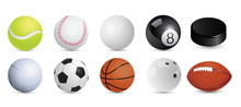 A Set Of Sports Balls. Vector Illustration.