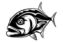 Fishing Emblem Of  Permit Isol...