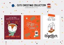 Christmas Kit Of Cute Winter P...