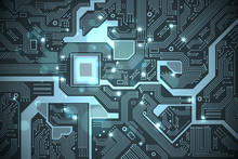 High Tech Electronic Circuit B...