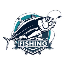 Fishing Emblem Of  Permit Isol...