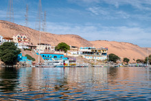 Beautiful Scene For Nile River And Boats From Luxor And Aswan Tour In Egypt