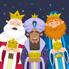 The Three Wise Men Smiling