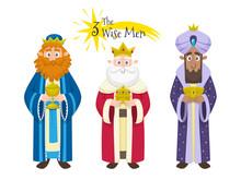 Three Magic Kings Isolated On ...