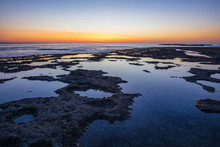 Africa, South Africa, Western Cape, Cape Town, Coast At Sunset