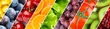 Background of mixed fruits and vegetables