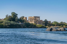 Philae Temple And Island In Th...
