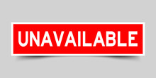 Square Red Sticker Label In Wo...