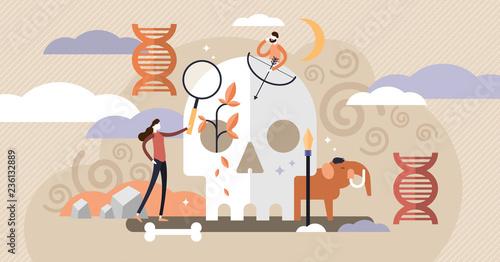 Vászonkép Anthropology vector illustration
