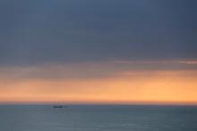 Minimalist Seascape At Sunset